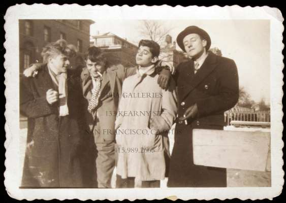 Hal Chase, Jack Kerouac, Allen Ginsberg and William Burroughs in the 1940s